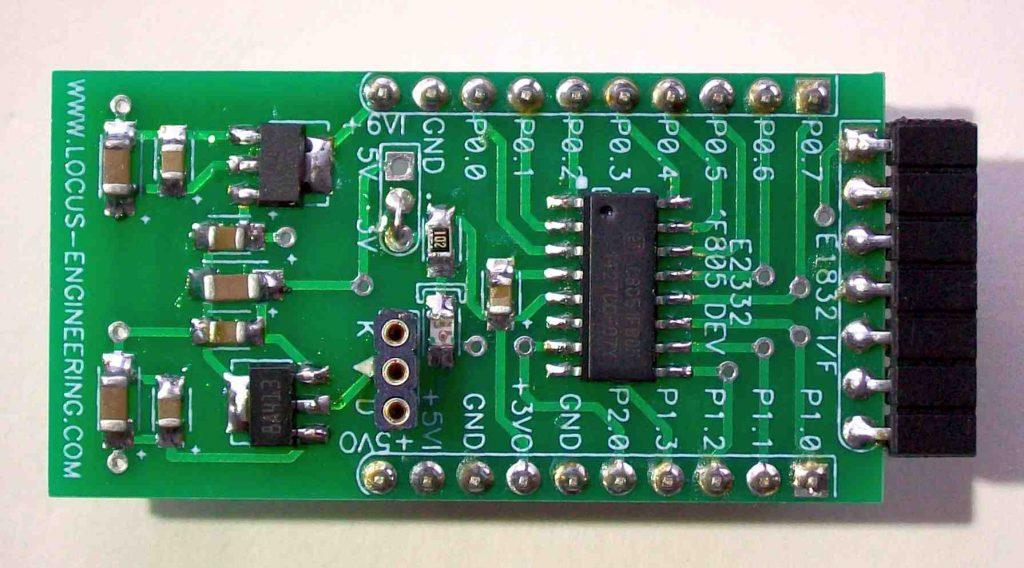 E2332 C8051F805 Microcontroller Breakout Board